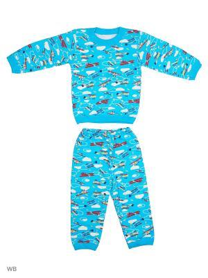 Пижамы Flip. Цвет: голубой, белый, синий