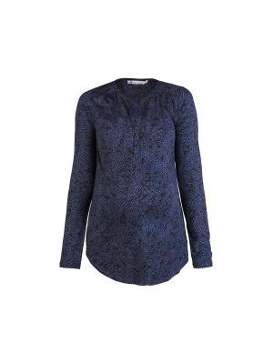 Блузка с принтом Queen Mum. Цвет: синий