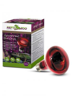 Лампа инфракрасная ReptiInfrared, 50Вт. REPTI-ZOO. Цвет: красный
