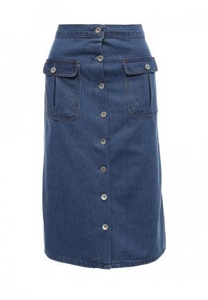 Юбка джинсовая Portobello Punk. Цвет: синий