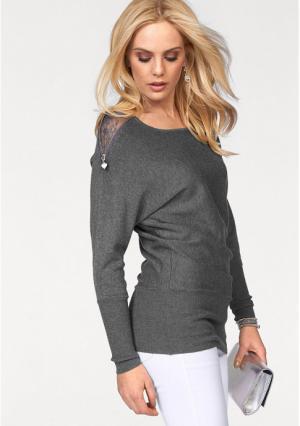 Пуловер MELROSE. Цвет: серый меланжевый