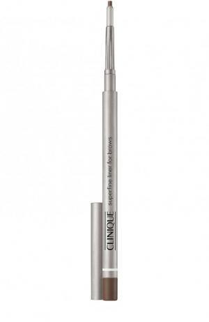 Супертонкий карандаш для бровей Superfine Liner, оттенок Deep Brown - 03 тон Clinique. Цвет: бесцветный