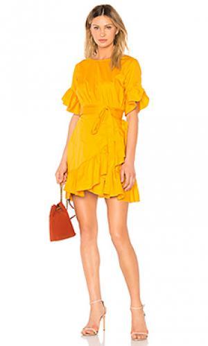Платье Cynthia Rowley. Цвет: горчичный