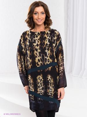 Платье COMPAGNIA ITALIANA. Цвет: черный, желтый