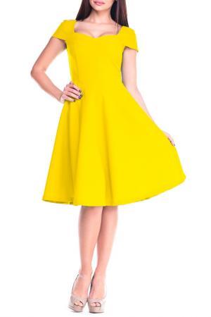 Платье Dioni. Цвет: желтый