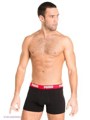 Трусы Puma Basic Boxer 2P, 2 шт.. Цвет: черный, красный, синий