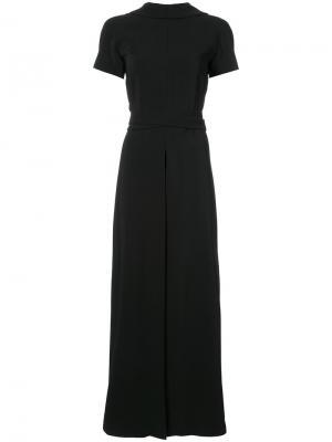 Расклешенное платье-макси Rosetta Getty. Цвет: чёрный