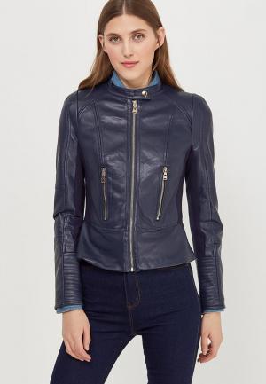 Куртка кожаная Fascinate. Цвет: синий
