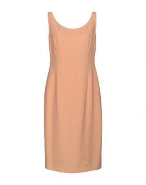 Платье до колена GIO' GUERRERI. Цвет: абрикосовый