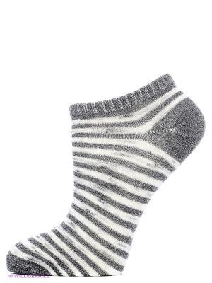 Носки, 3 пары Oodji. Цвет: белый, серый