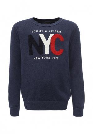 Джемпер Tommy Hilfiger. Цвет: синий