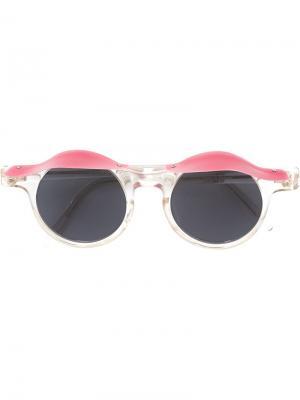 Солнцезащитные очки Blinkers Jc De Castelbajac Vintage. Цвет: розовый и фиолетовый