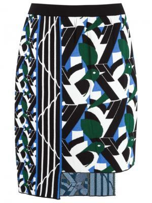 Asymmetric knit skirt Gig. Цвет: чёрный