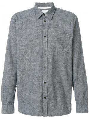 Рубашка мулине Hans Norse Projects. Цвет: серый