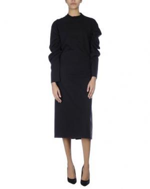 Платье длиной 3/4 VETEMENTS. Цвет: черный