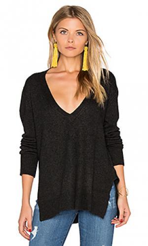 Свободный свитер с v-образным вырезом Enza Costa. Цвет: уголь