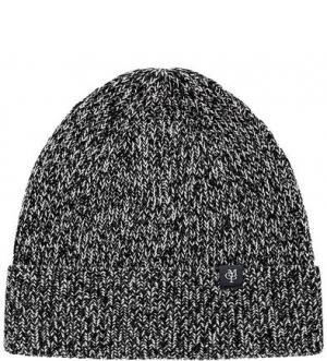 Вязаная хлопковая шапка с отворотом Marc O'Polo. Цвет: серый