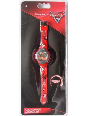 Часы наручные электронные Disney Cars 3 (Тачки 3). Цвет: черный, красный