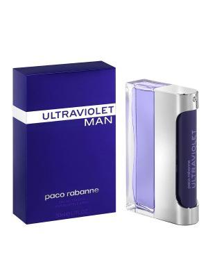Туалетная вода ultraviolet man, 50 мл PACO RABANNE. Цвет: прозрачный