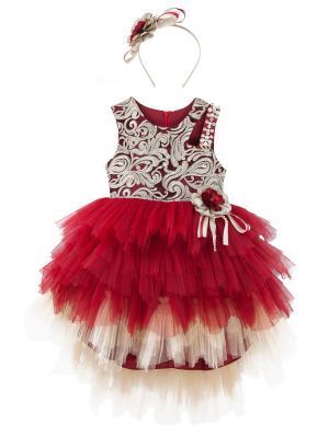 Платье+ободок+брошь для девочки lindissima