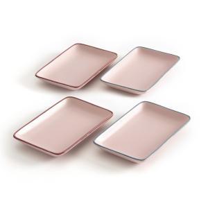 Комплект из 4 десертных тарелок, SIGRID La Redoute Interieurs. Цвет: розовый