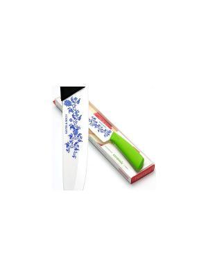 Нож кухонный MAYER-BOCH. Цвет: белый, зеленый