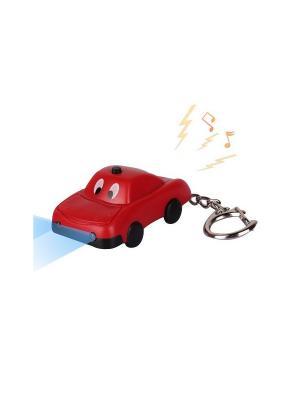 Брелок LED со звуком Машинка Красная Склад Уникальных Товаров. Цвет: красный