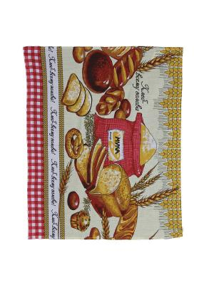 Набор кухонных полотенец Римейн. Цвет: коричневый, красный