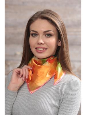 Платок FOMAS. Цвет: оранжевый, салатовый