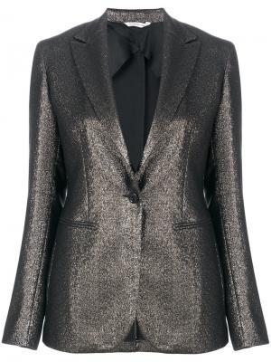 Пиджак слим с эффектом металлик Tonello. Цвет: металлический