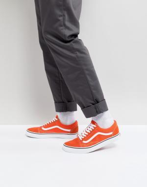Vans Оранжевые кроссовки Old Skool VA38G12W1. Цвет: оранжевый