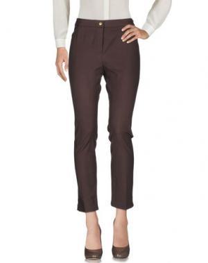 Повседневные брюки PAMELA HENSON. Цвет: темно-коричневый