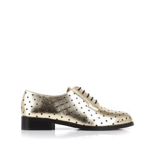 Ботинки-дерби кожаные Charly MELLOW YELLOW. Цвет: золотистый