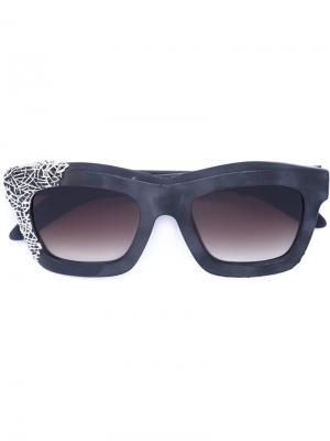 Солнцезащитные очки Mask C2 Kuboraum. Цвет: серый