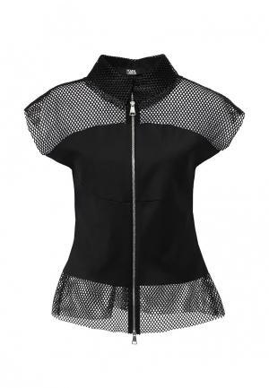 Жакет Karl Lagerfeld. Цвет: черный