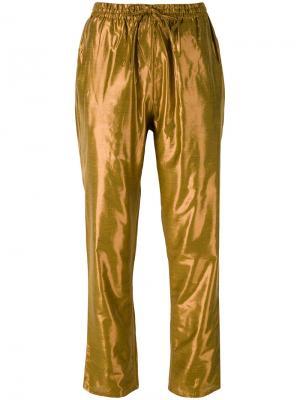 Brasier track pants Mes Demoiselles. Цвет: жёлтый и оранжевый