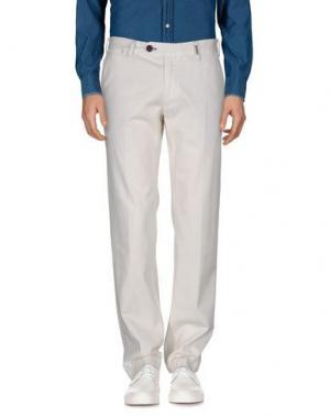 Повседневные брюки GANESH. Цвет: слоновая кость