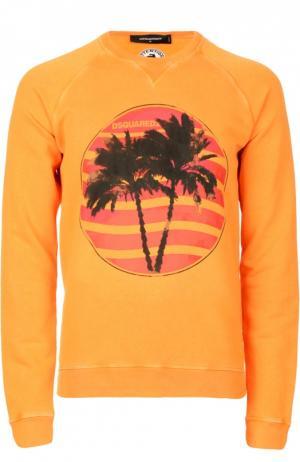 Пуловер джерси Dsquared2. Цвет: оранжевый