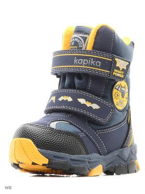 Ботинки Kapika. Цвет: темно-синий, желтый