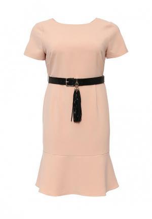 Платье LOST INK CURVE. Цвет: розовый