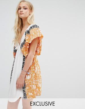 Akasa Пляжное платье с принтом. Цвет: мульти