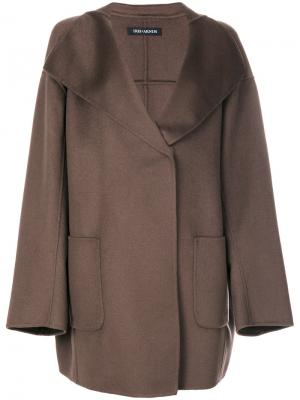 Boxy coat Iris Von Arnim. Цвет: коричневый