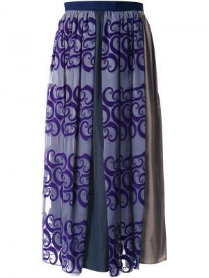 Асимметричная юбка Kolor. Цвет: серый