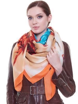 Платок Ribello. Цвет: бирюзовый, темно-бежевый, оранжевый