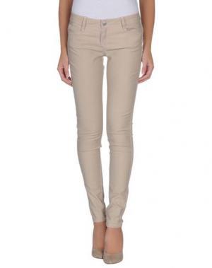 Джинсовые брюки BLEULAB. Цвет: бежевый