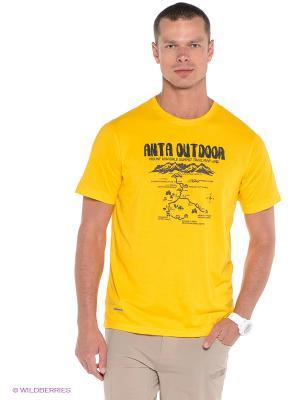 Футболка ANTA. Цвет: желтый