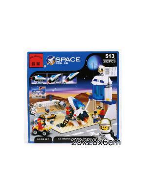 Конструктор пластиковый космическая станция ENLIGHTEN. Цвет: синий, белый