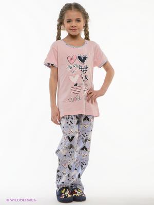 Пижама HAYS. Цвет: бледно-розовый, сиреневый