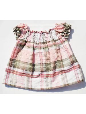 Блузка для девочки La Pastel. Цвет: розовый, белый, бордовый, зеленый