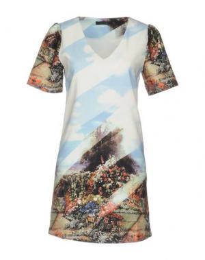 Короткое платье ANONYME DESIGNERS. Цвет: небесно-голубой
